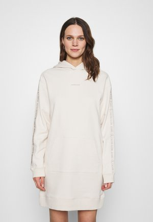 LOGO TRIM HOODIE DRESS - Vestito estivo - white sand