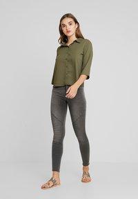 ONLY - ONLROYAL BIKER - Jeans Skinny Fit - dark grey denim - 1