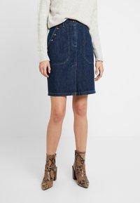 Leon & Harper - JACQUIE BRUT - Pencil skirt - blue - 0