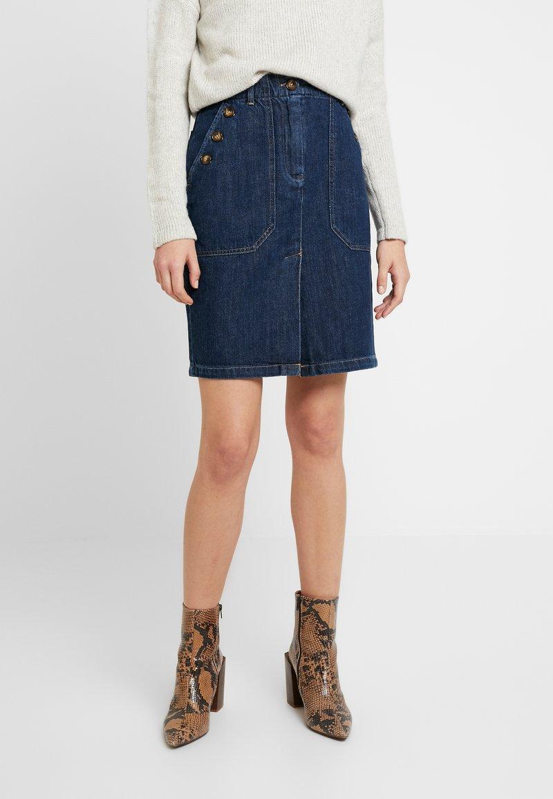 Leon & Harper - JACQUIE BRUT - Pencil skirt - blue