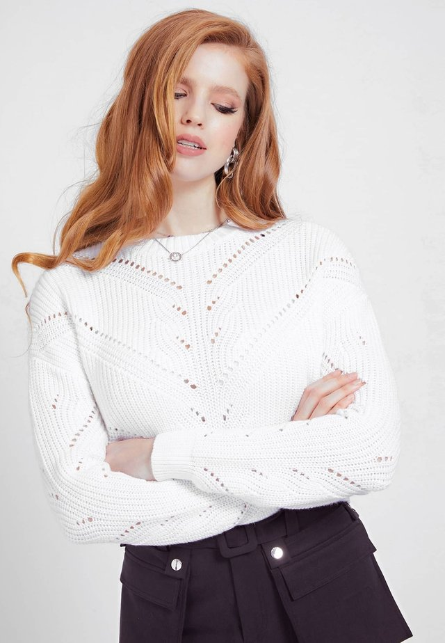 EMMA SWEATER - Sweter - weiß