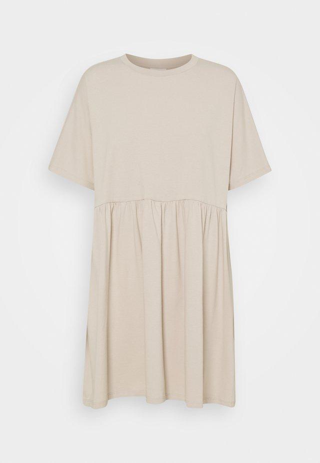 NMKERRY SHORT DRESS - Jerseykjoler - chateau gray