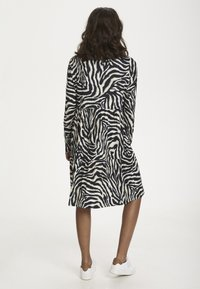 Kaffe - Day dress - black/beige zebra print - 1