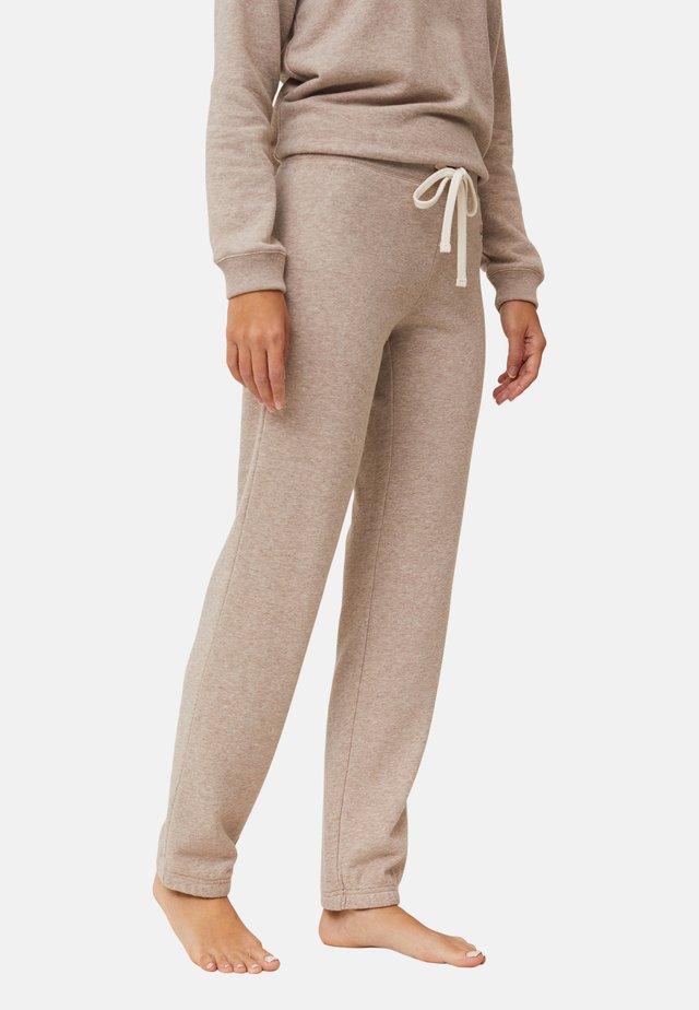 Pyjamabroek - light brown melange
