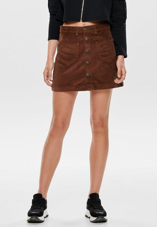 ONLAMAZING SKIRT - A-line skirt - coffee bean
