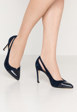 High heels - dark blue