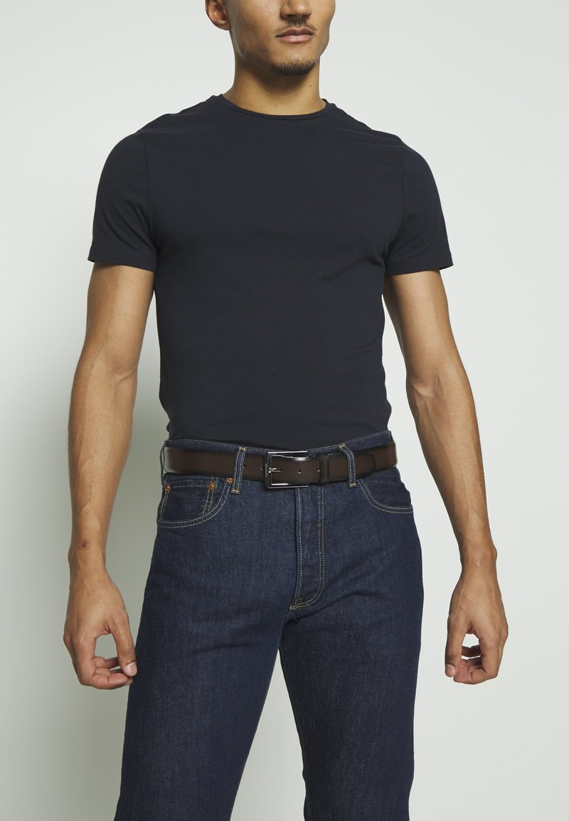 Calvin Klein - BOMBED BELT - Belt - brown