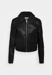 Weekday - TAXI JACKET - Faux leather jacket - black - 3