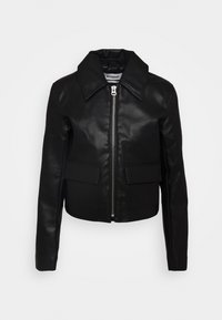 TAXI JACKET - Faux leather jacket - black