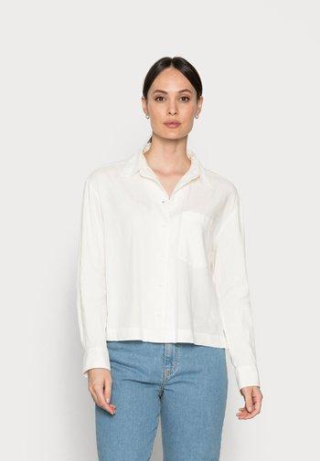 BLOUSE - Button-down blouse - cotton white