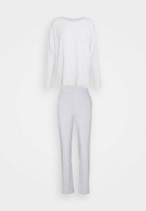 STRIPES SET - Pyjamas - medium grey melange