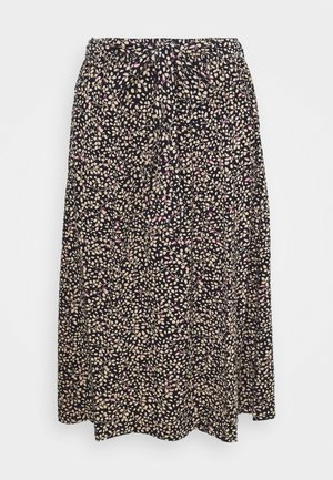 PRINTED - A-line skirt - blue