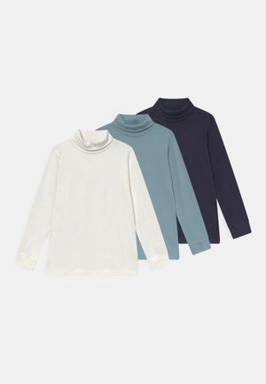 KIDS BOYS 3 PACK - Long sleeved top - offwhite/mittelbau/nacht