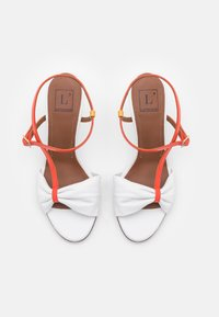 L'Autre Chose - Sandals - white/coral/ochre/yellow - 4