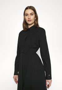 Calvin Klein - TIE CUFF SHIRT DRESS - Denní šaty - black - 4
