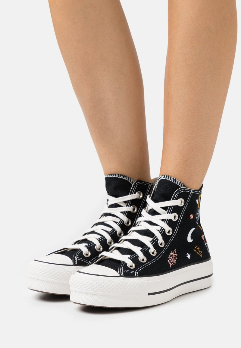 Converse - CHUCK TAYLOR ALL STAR LIFT - Høye joggesko - black/vintage white/multicolor