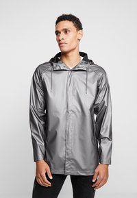 Rains - SHORT COAT - Regenjas - metallic charcoal - 0