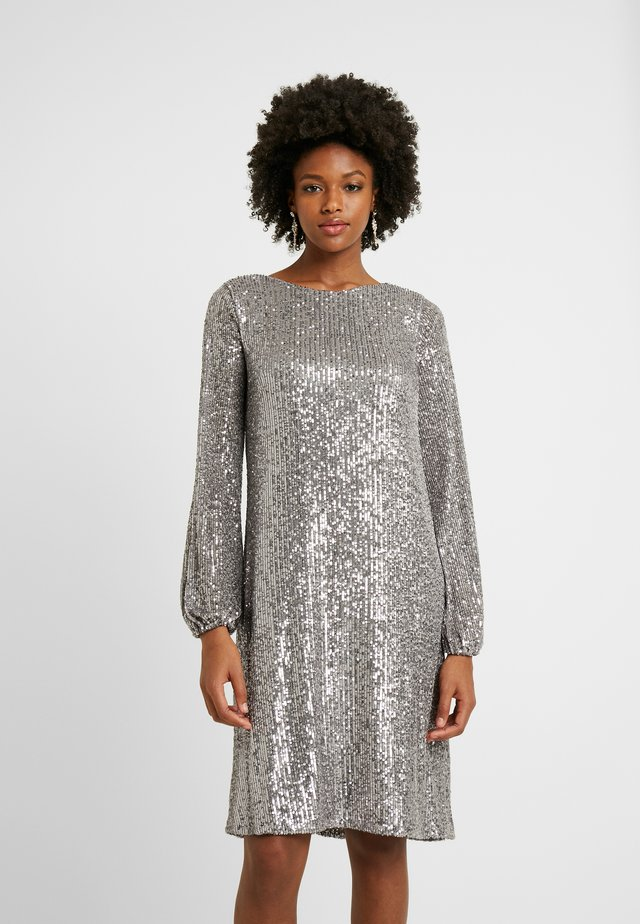 TALL SLEEVED SHIFT - Cocktail dress / Party dress - gunmetal