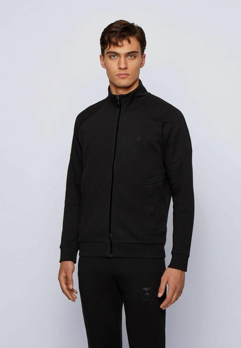 BOSS - Sweater met rits - black
