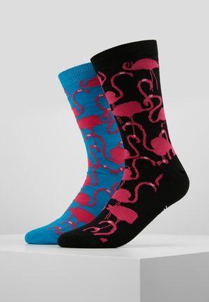 FLAMINGOS 2 PACK - Socks - turquoise/black