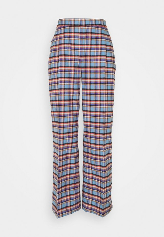 TRAVEL PANTS - Trousers - skye blue