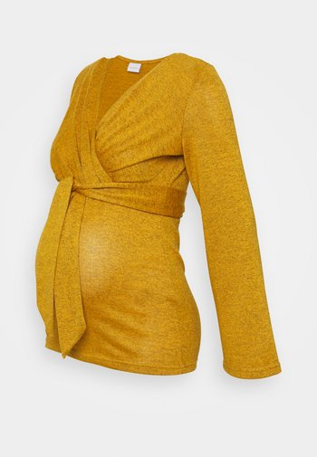 MLNATI TESS - Sweter - spruce yellow melange