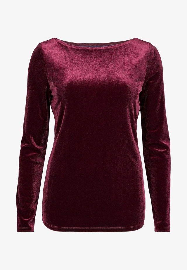 HAZEL  - Long sleeved top - rubinrot