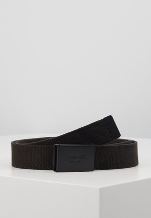 TONAL WEB BELT UNISEX - Pasek - regular black
