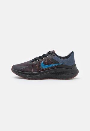 WINFLO 8 - Obuwie do biegania treningowe - black/light photo blue/thunder blue/dark pony/grey fog/melon tint
