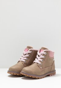 TOM TAILOR - Lace-up ankle boots - beige - 3