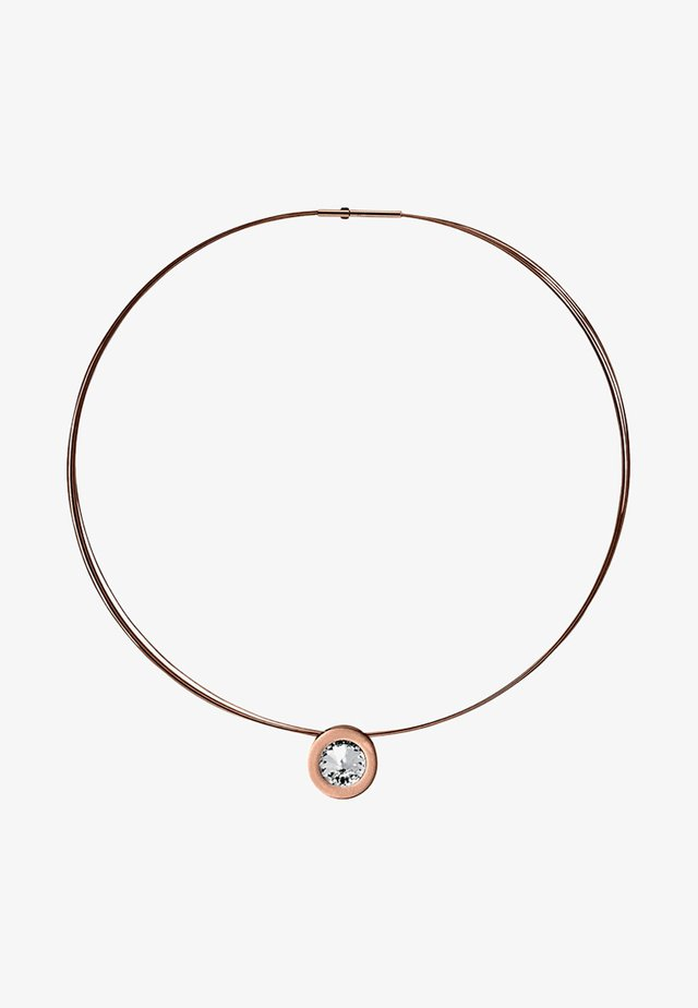 MIT PERLE - Necklace - rose gold-coloured
