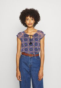 comma casual identity - KURZARM - Blouse - multi-coloured - 0