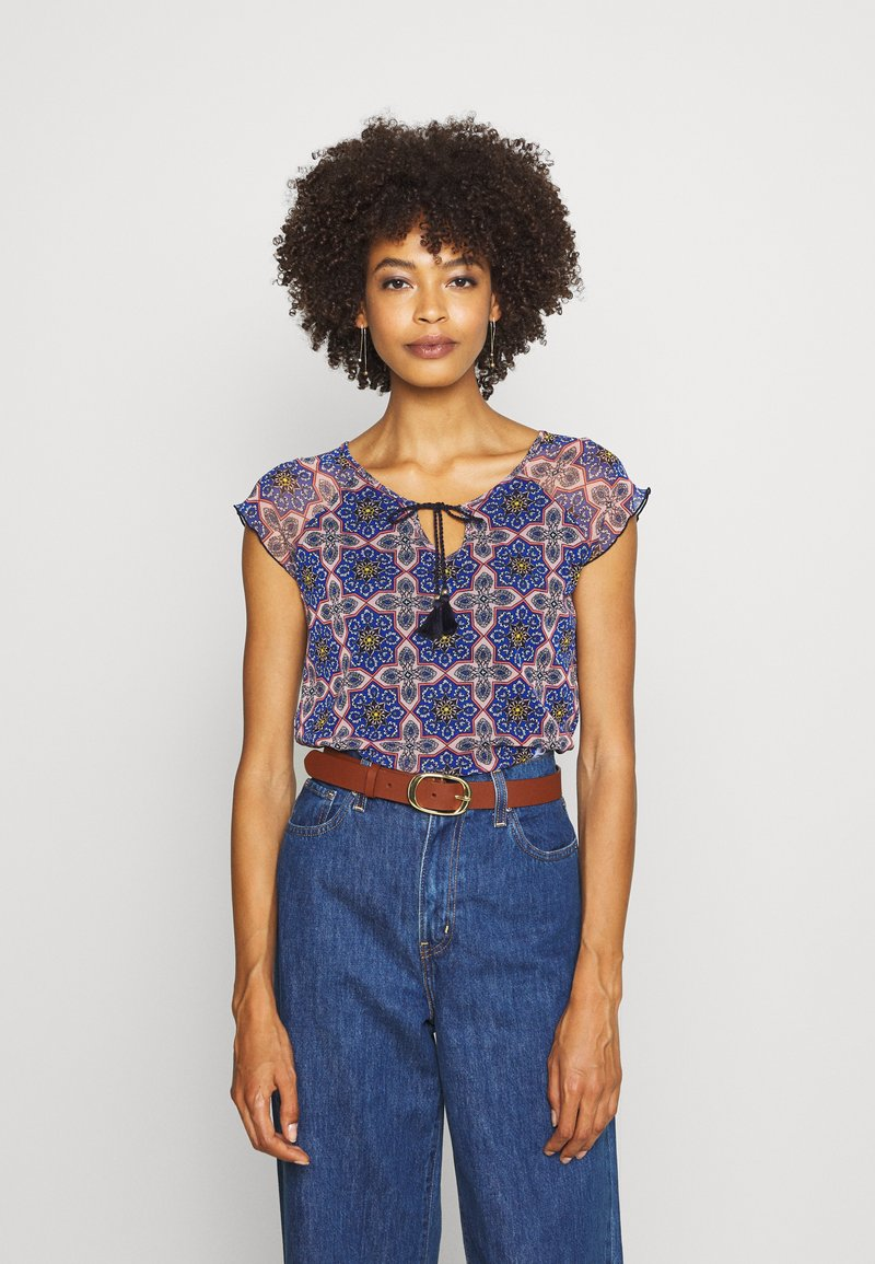 comma casual identity - KURZARM - Blouse - multi-coloured