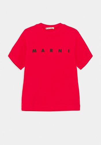 MAGLIETTA UNISEX - Print T-shirt - geranium red