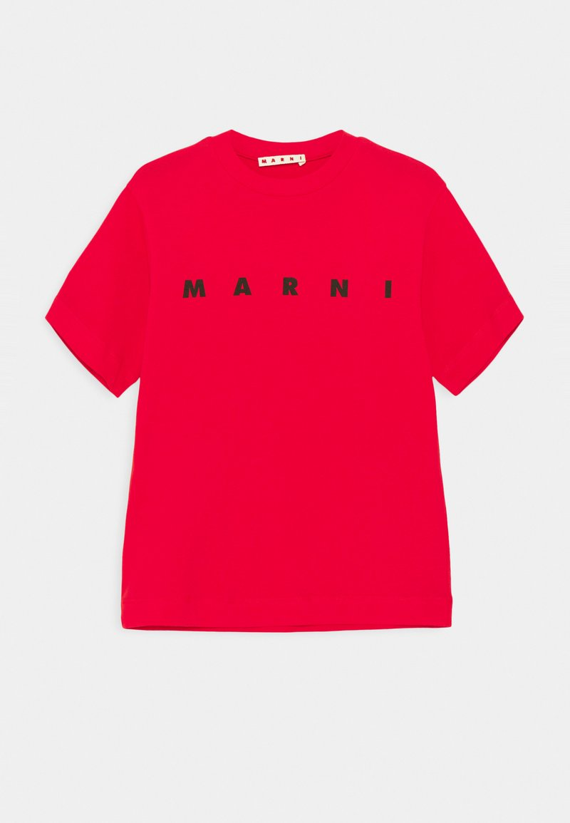 Marni - MAGLIETTA UNISEX - Print T-shirt - geranium red