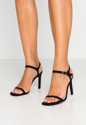 SQUARE  - High heeled sandals - black