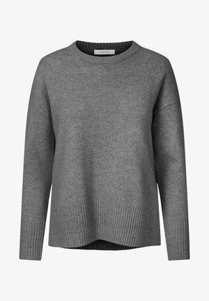 Strikkegenser - grey melange