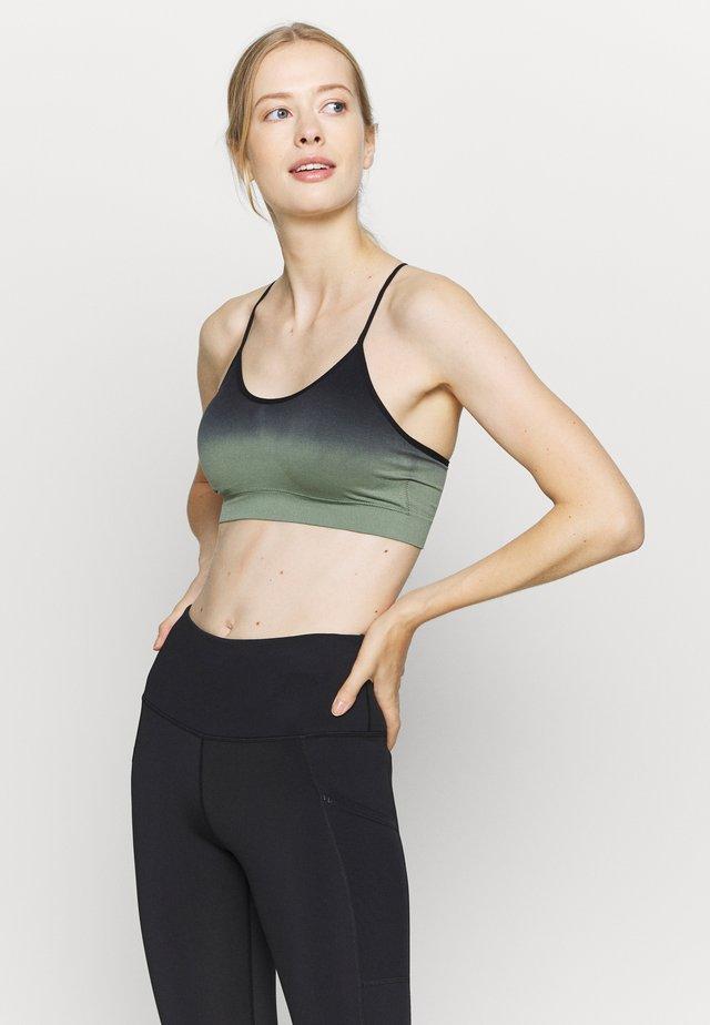 GRADIENT STRAPPY CROP TOP - Sports bra - black