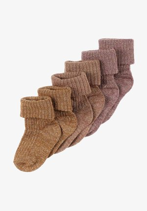 6PACK  - Socks - marron