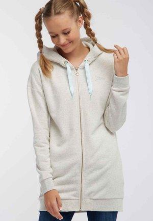 Mikina na zip - wool white melange