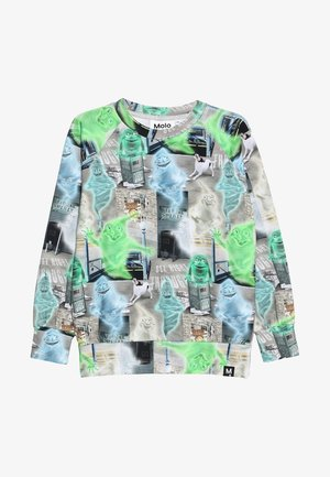 ROMEO - Long sleeved top - grey/light green