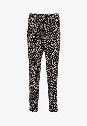 Pantalon classique - black/camel