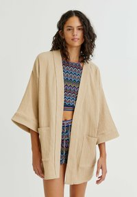 PULL&BEAR - CRÊPE - Summer jacket - mottled beige - 0