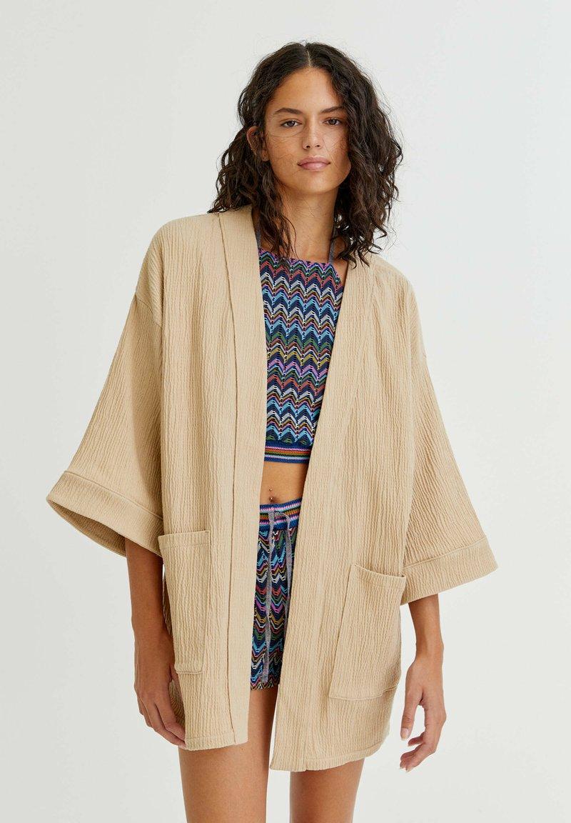 PULL&BEAR - CRÊPE - Summer jacket - mottled beige