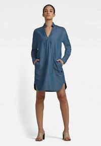 G-Star - MILARY V-NECK SHIRT - Denim dress - rinsed - 0