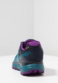 Salomon - TRAILSTER GTX - Trail running shoes - deep lagoon/navy blazer/purple magic - 3