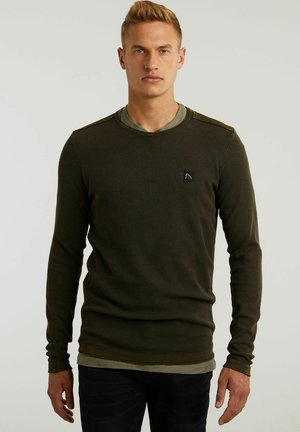 BASAL WASHED - Sweter - green