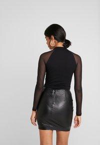 Even&Odd - BODYSUIT - Bluzka z długim rękawem - black - 2