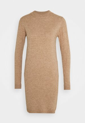 OBJTHESS DRESS - Gebreide jurk - chipmunk