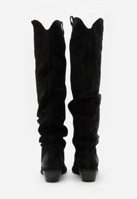 Felmini - EL PASO - Overknee laarzen - nirvan nero - 6